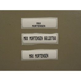Dess. 7715   Tøjmærker m/ varmeklæb