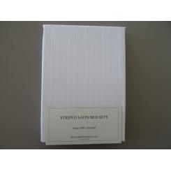 Dess.1500           Stribed Satin Hvid
