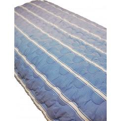 Dess.140 Dynetæppe  blå stribet